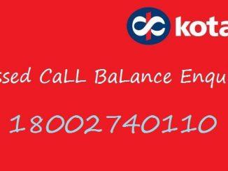 Kotak Mahindra bank missed call balance enquiry number