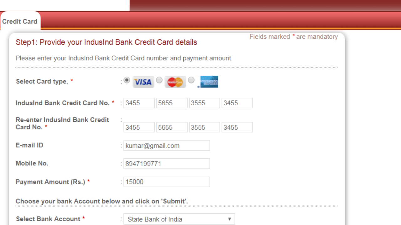 3 Ways To Pay Your IndusInd Credit Card Bill Online