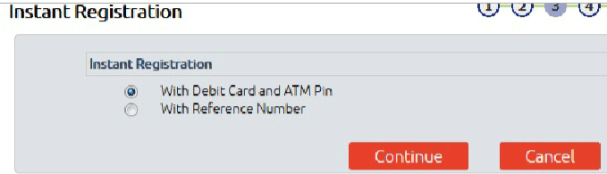 instant registration with atm pin in bandhan bank