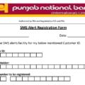 pnb mobile number registration form