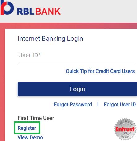 rbl net banking registration