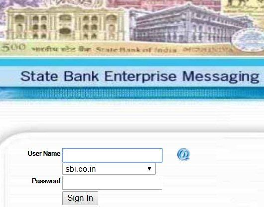 sbi ems login page