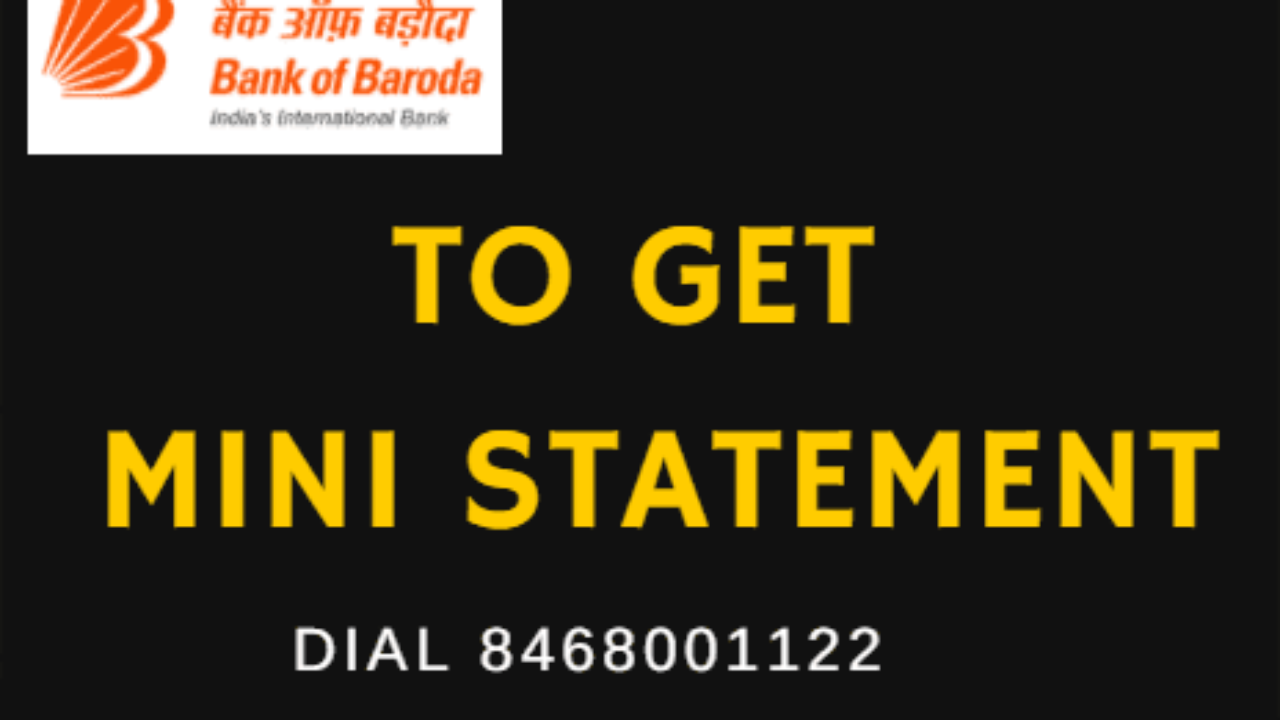 How to Get Bank of Baroda Mini statement By Missed call and SMS
