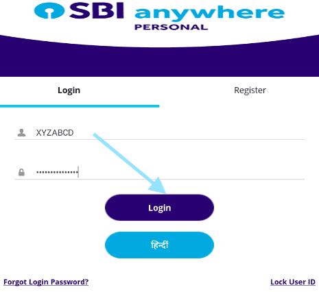 sbi anywhere personal app login