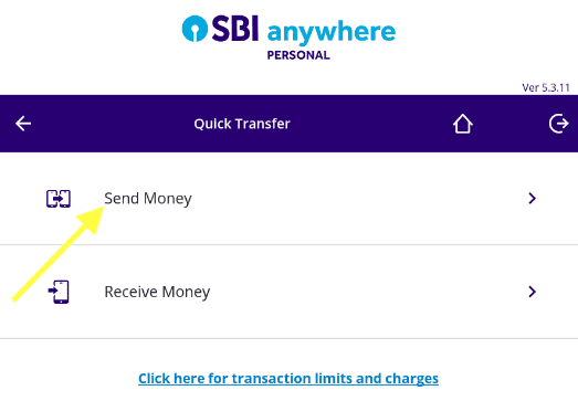 send money in sbi anywhere personal app
