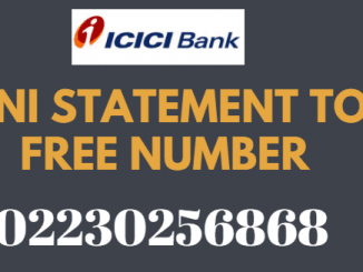 ICICI Bank Mini Statement Toll Free Number