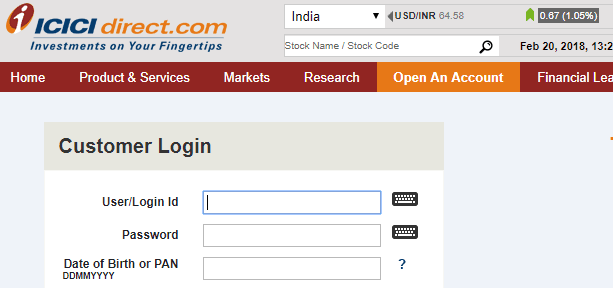 icici direct trading account