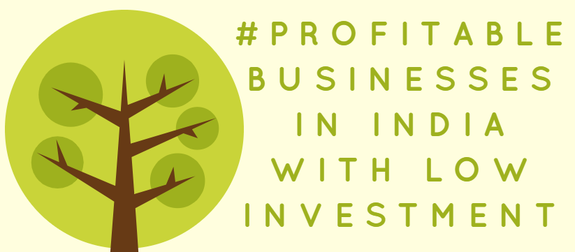 most profitable business in india with low investment