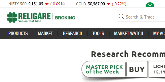 religare trading account