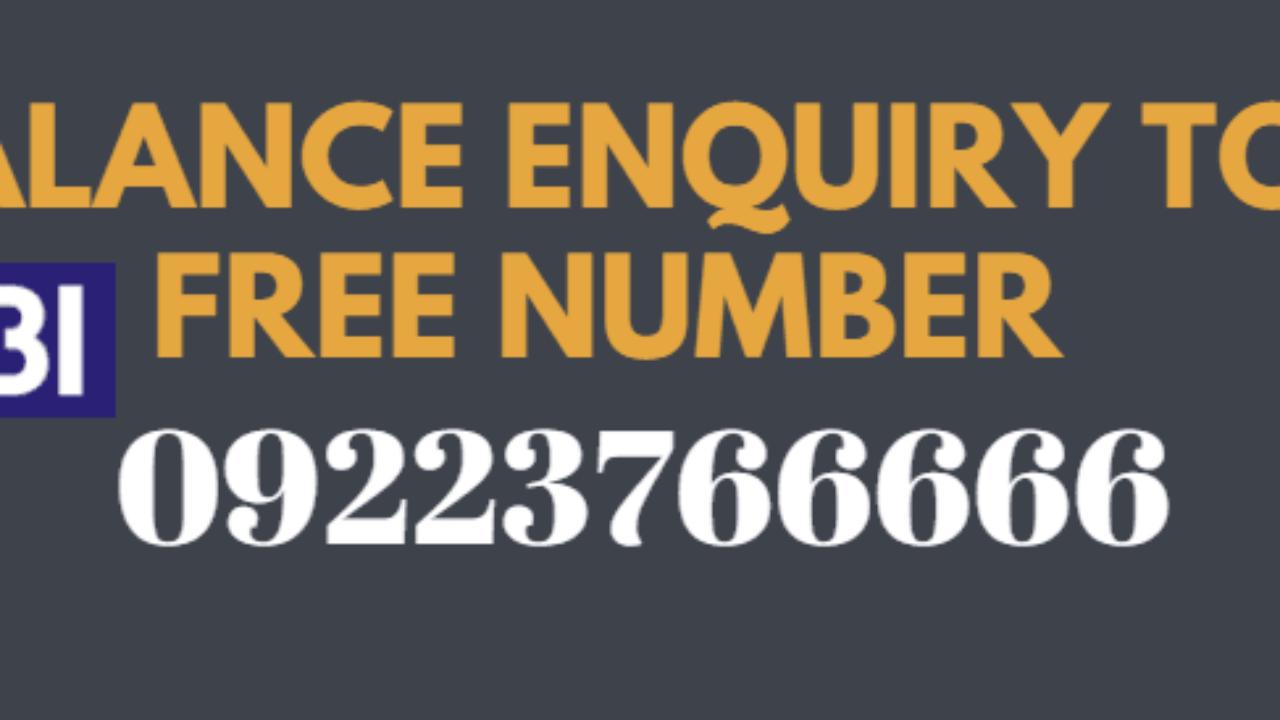 SBI Missed Call Balance Enquiry Toll Free Number
