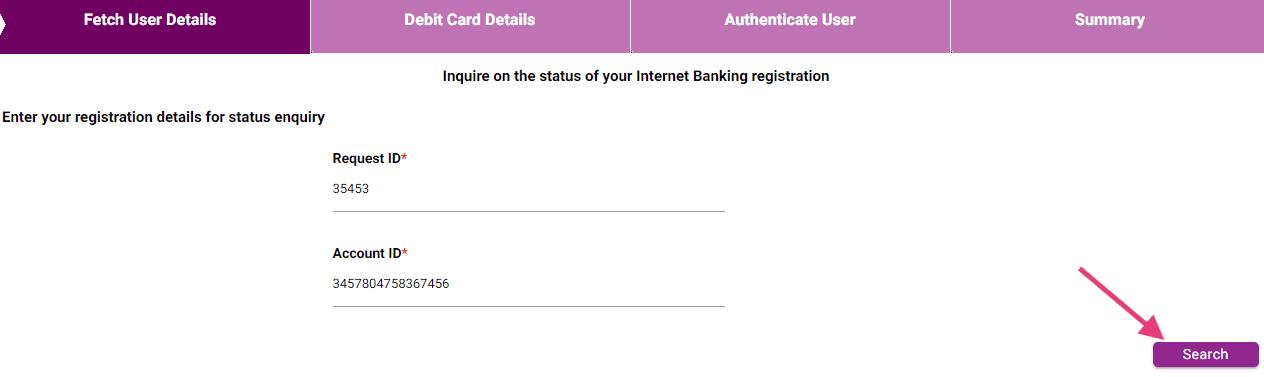 request id karnataka bank net banking