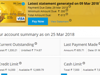 check sbi credit card balance