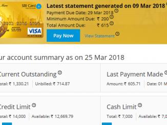 check sbi credit card balance