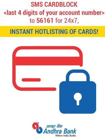block andhra bank atm debit card