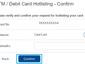 confirm HDFC debit card blocking request