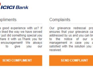icici bank complaint form