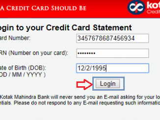 online kotak credit card statement login