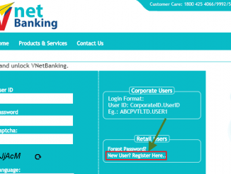 new user register Vijaya bank net banking