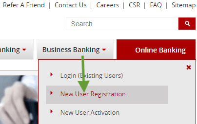new user registration south indian bank