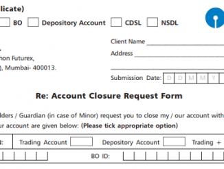 sbi demat account closure form sample