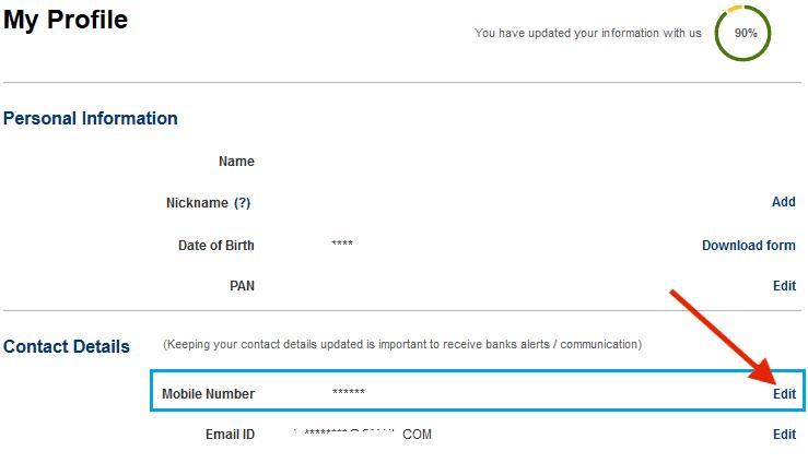 contact details update kotak bank net banking