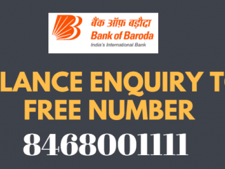 bank of baroda missed call balance enquiry number