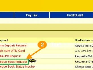 new cheque book request bank of India