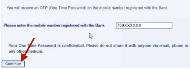 confirm mobile number hdfc account