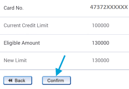 confirm new hdfc credit card limit online
