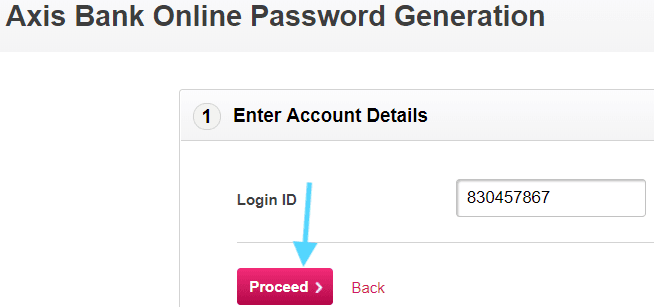 enter customer id axis bank