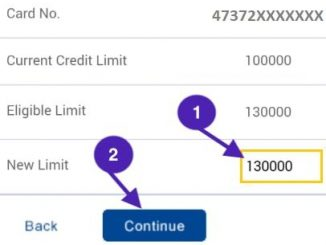set new hdfc credit card limit