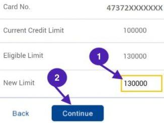 set new hdfc credit card limit
