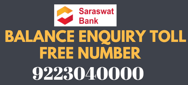 Saraswat Bank Missed Call Balance Enquiry Toll Free Number