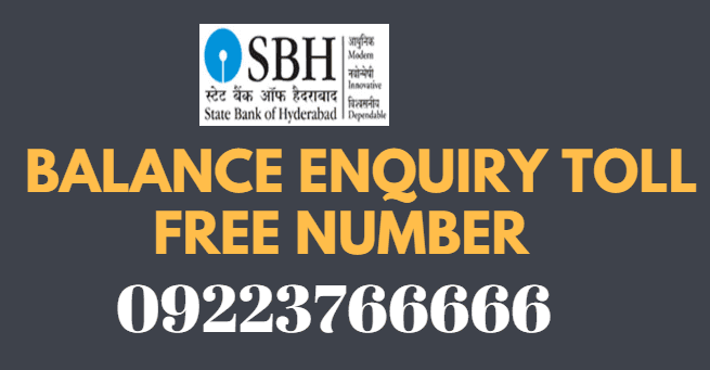 SBH Missed Call Balance Enquiry Toll Free Number