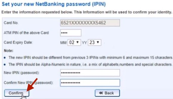 set new login password hdfc net banking