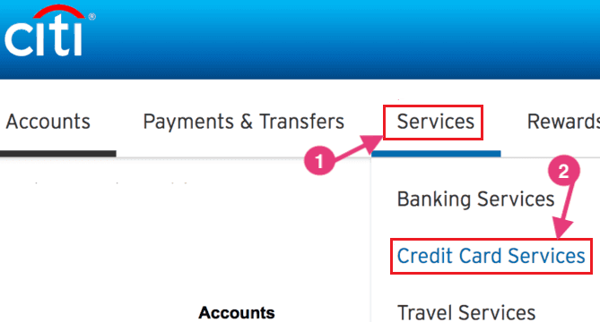 credit card services citibank