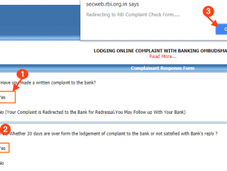 File complaint against bank in rbi online