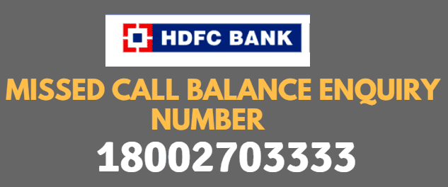 how to check hdfc credit card balance by missed call