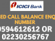 icici bank balance enquiry toll free number