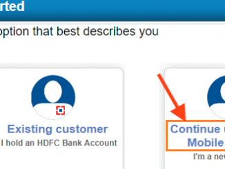 Open hdfc account using your mobile number