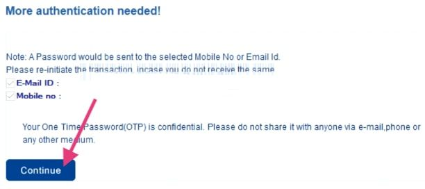 otp to email and mobile for hdfc credit card registration