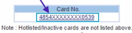 select card number for hdfc net banking