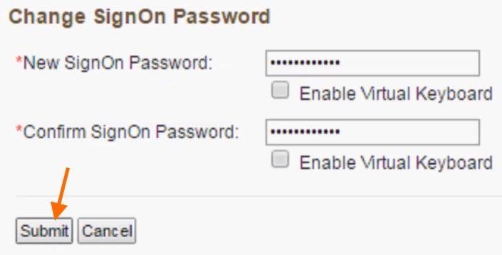 change login signon password bank of baroda net banking
