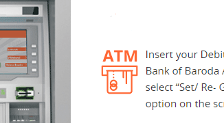 generate atm pin bank of baroda