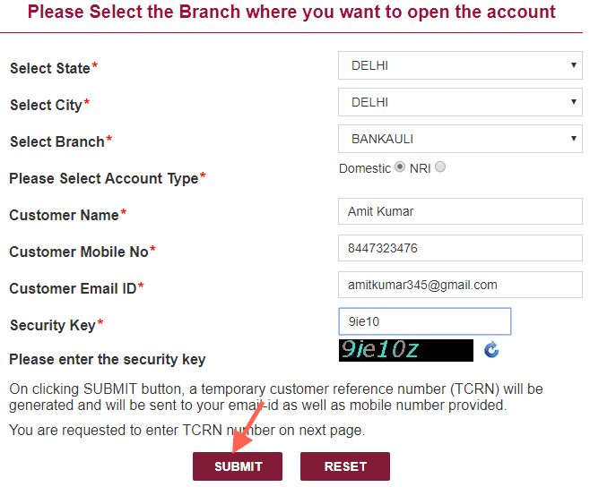 pnb online account opening