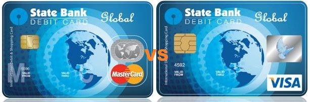 sbi mastercard global vs visa card global