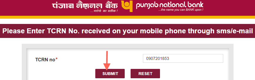 tcrn pnb account opening