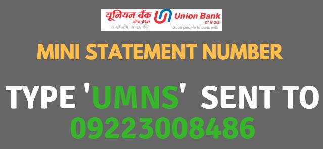 ubi mini statement number