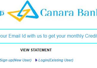 canara bank credit card statement