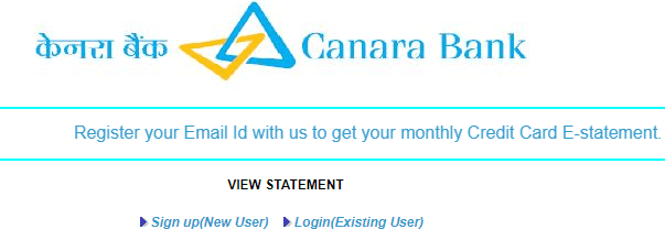 canara bank credit card statement